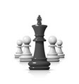 leader in the chess game vector image vector image