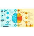 Left And Right Brain Infographics vector image vector image