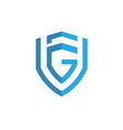 letter g f logo vector image