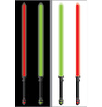 lightsabers in mirror vector image vector image
