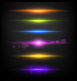 line glow borders neon light illuminated linear vector image vector image