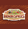 logo for indian spices vector image vector image