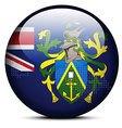 Map with Dot Pattern on flag button of Pitcairn vector image vector image