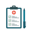 medical test with pen in flat style questionnaire vector image