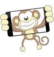 monkey selfie vector image vector image