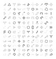 monochrome set with drawing arrows vector image vector image