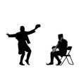 montenegro dance oro and balkan fiddle silhouette