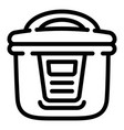 multicooker icon outline style vector image