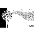Music tree background vector image vector image