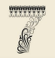 Number 7 floral decorative ornament vector image vector image