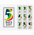 number of days left in colorful style vector image