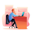 office worker at workplace flat vector image vector image