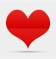 one red heart valentines day love card vector image vector image