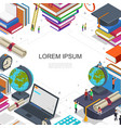online education and learning composition vector image vector image