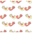 pattern with birds in love vector image vector image
