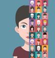 people avatars with colorful backgrounds vector image