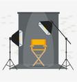 photo videoporodaction studio yellow chair vector image vector image