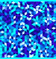 polygonal mosaic triangle texture vector image vector image