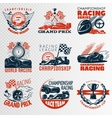 Racing Emblem Set In Color vector image vector image