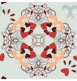 seamless background hearts pattern vector image vector image