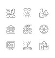 set line icons chemical lab vector image vector image
