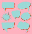 set of blue speech bubbles without phrases vector image vector image