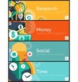 Set of flat design internet business banners vector image