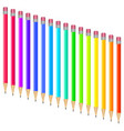 set of multi-colored pens vector image