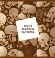 skull seamless pattern dead head crossbones vector image