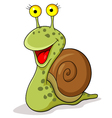 Smiling snail cartoon vector image vector image