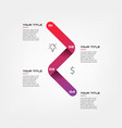 snake icons timelines gradient infographics some vector image vector image