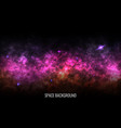 space background color milky way bright nebula vector image vector image