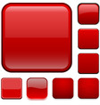 Square red app icons vector image