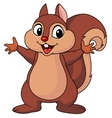 Squirrel cartoon waving hand vector image vector image
