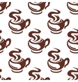 steaming coffee cups retro seamless pattern vector image vector image