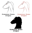 three characters in the form of a horse vector image vector image