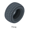tire icon isometric 3d style vector image vector image