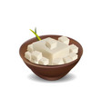 tofu isolated on white - realistic vector image vector image