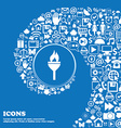 Torch icon Nice set of beautiful icons twisted vector image vector image