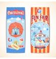 Vintage carnival banners vertical vector image vector image