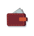 wallet full of money icon vector image