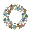 Winter holidays icons collection vector image vector image