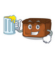 with juice brownies mascot cartoon style vector image