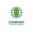 world globe seo business optimization flat vector image vector image