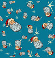 head santa claus christmas seamless background vector image