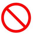 prohibition symbol prohibition sign prohibition vector image