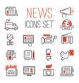 journalism media hot tv news outline black vector image