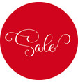 words sale round red sticker isolated on white vector image
