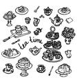 Hand drawn of kitchen utensils vector image