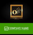 03 oak letter o vector image vector image